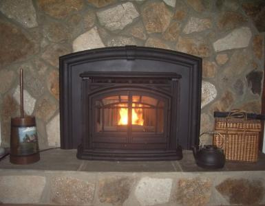 CORNER FIREPLACES: PELLET STOVE INSERT CORNER FIREPLACE