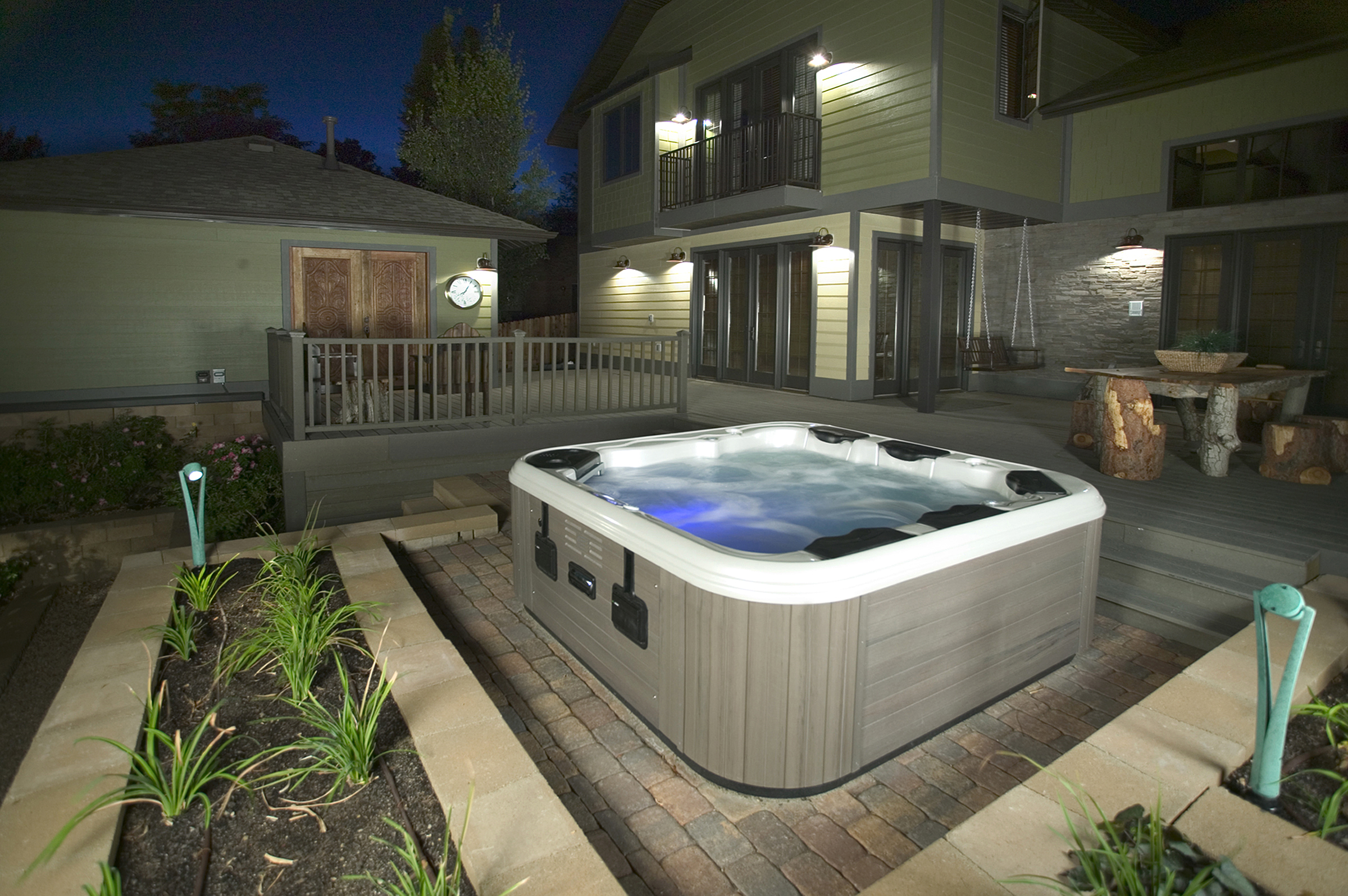 hot tub hottubfireplace. Black Bedroom Furniture Sets. Home Design Ideas